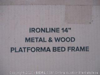 "14"" Platforma Bed Frame Size Full (Box Damage)"