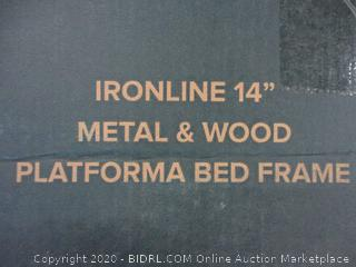"14"" Platforma Bed Frame Size King (Box Damage)"