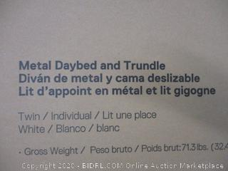 Metal Daybed and Trundle Size Twin