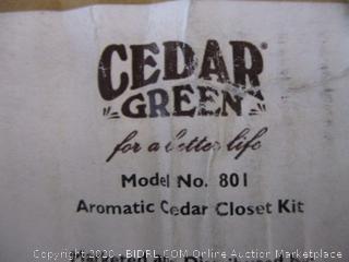 Cedar Green Aromatic Cedar Closet Kit