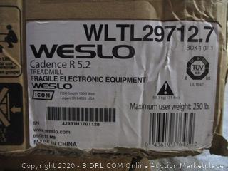 Weslo Treadmill (Box Damaged)
