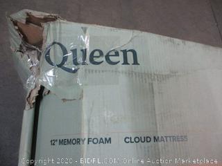 "12"" Memory Foam Cloud Mattress Size Queen (Box Damage)"