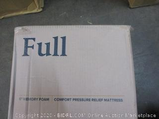 "6"" Memory Foam Comfort Pressure Relief Mattress Size Full (Sealed)"