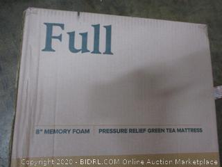 "8"" Memory Foam Pressure Relief Green Tea Mattress Size Full (Box Damage)"