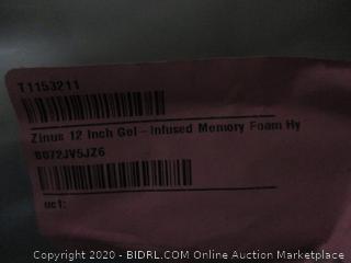 12 in. Gel Infused Memory Foam Hybrid Mattress Topper