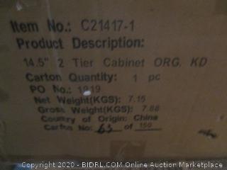 2 Tier Cabinet (Box Damage)
