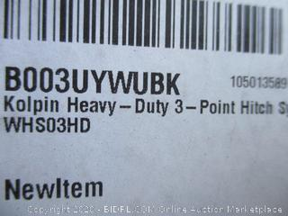 Heavy Duty 3-Point Hitch System