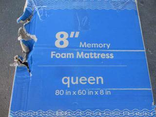 "8"" Memory Foam Mattress Queen (Please Preview)"