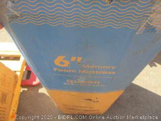 """6"""" Memory Foam Mattress Size Queen"""