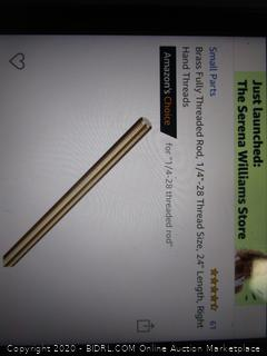 Brass Fully Threaded Rod  see pictures