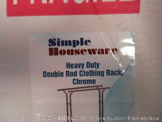 Heavy Duty Double Rod Clothing Rack (Box Damage)