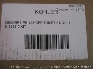 Kohler Memoirs PB 128 GPF Toilet stately Incomplete set box 1 of 2 only