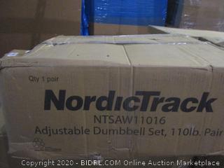 Nordic Track Adjustable Dumbbell Set  incomplete set