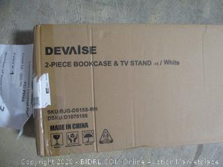 Devaise 2 Piece Bookcase & TV Stand