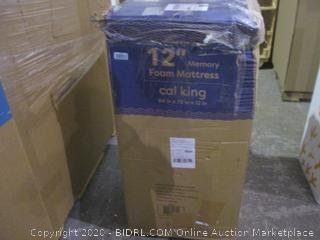 "12"" Memory Foam Mattress cal King"
