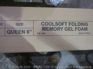 "queen 6"" Coolsoft Folding Memory Gel foam Mattress"