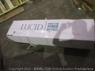 Lucid Memory Foam Hybrid Mattress 12 inch Queen new