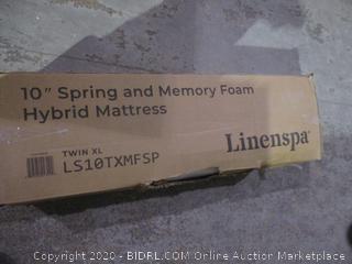 "Linenspa 10"" Spring and Memory foam Hybrid Mattress Twin XL"