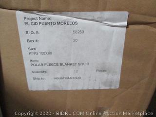 Box Lot Polar Fleece Blankets