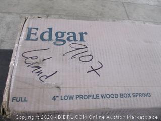 """Edgar Full 4"""" Low Profile Wood Box Spring"""