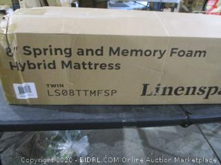 Linenspa Spring and Memory Foam Hybrid Mattress Twin