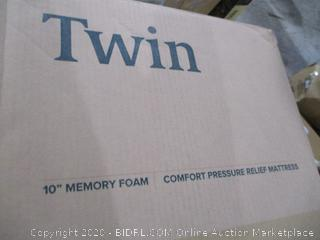"Twin 10"" Memory Foam mattress"