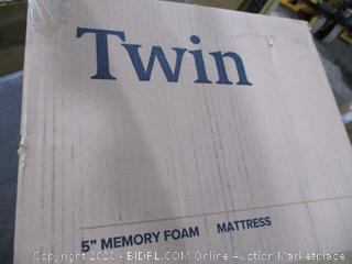 "Twin 5"" Memory Foam Mattress"