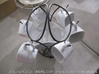 Dishes with stand