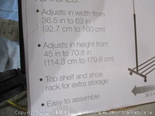 Portable & Adjustable Garment Rack with Shel & Shoe Rack