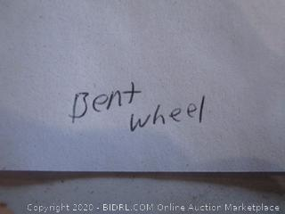 Coleman Cooler/ bent wheel