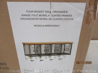 four Basket Wall Organizer