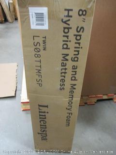 "Linensopa 8"" Spring and Memory Foam Hybrid Mattress Twin"