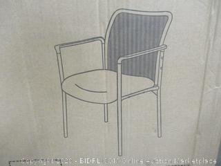Mesh Back Armed Side Chair