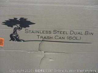 Stainless Steel Dual bin trash can factory Sealed