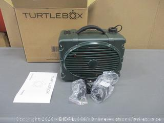 Turtlebox  Outdoor Rugged Bluetooth Speaker Powers on