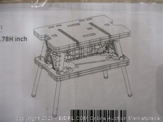 Keter Folding Work Table   Factory Sealed