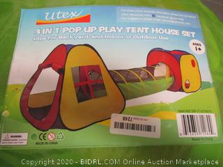 3 in 1 Pop Up Play tent House set