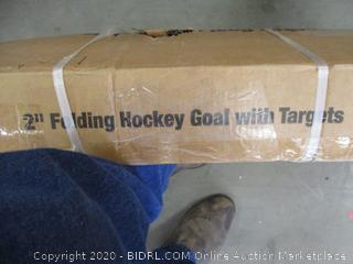 "2"" Folding Hockey Goal with backstop and Targets"