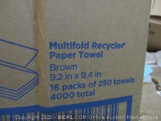 Multifold Recycled Paper Towels