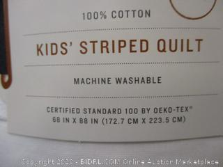 Kid's Striped Quilt Twin