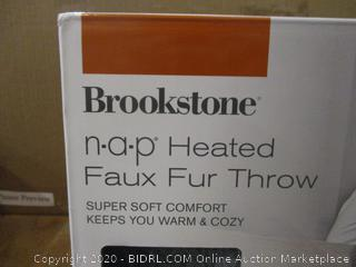 Heated Faux Fur Throw