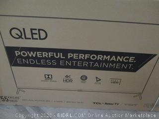 "TCL QLED 55"" TV Powers On See Pictures"
