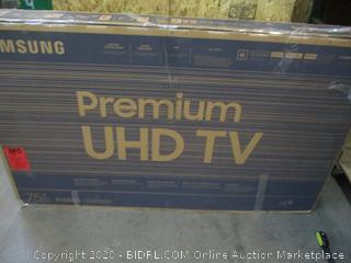 "Samsung Premium UHD TV 75""  4K UHD Processor  Powers on See Pictures"