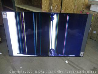 """Samsung QLED 82"""" TV Cracked Screen Powers on"""
