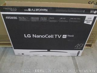 "LG Nano Cell YV AI Thin Q 49"" Powers On  see Pictures"