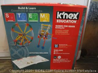 K'nex Education Gonzo for Gears / condition of box may vary