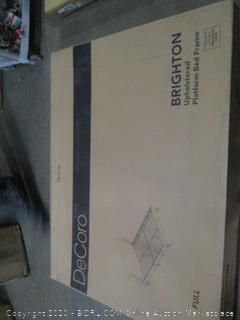 Upholstered Platform Bed Frame  Full