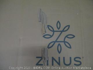 Zinus Upholstered Diamond Stitched Platform Bed  with Wooden Slats  King