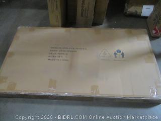 Zinus Upholstered Diamond Stitched Platform Bed Queen