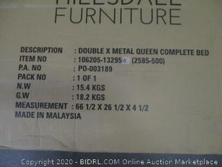 Hillsdale Furniture Double X Metal Queen Complete Bed